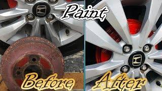 How To Paint Brake Caliper/Drum  DIY .