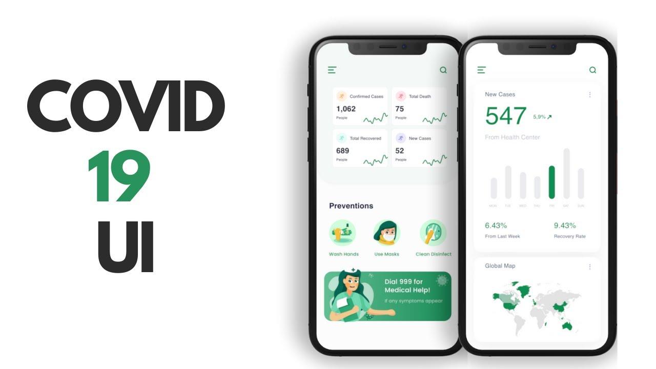 COVID-19 App - Flutter UI - Speed Code