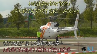 Heli Aviation - Eurocopter - AS350 Ecureuil / Squirrel Start/Landung Legoland Deutschland Günzburg