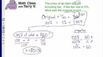 How to Find Original Price: Tax 1