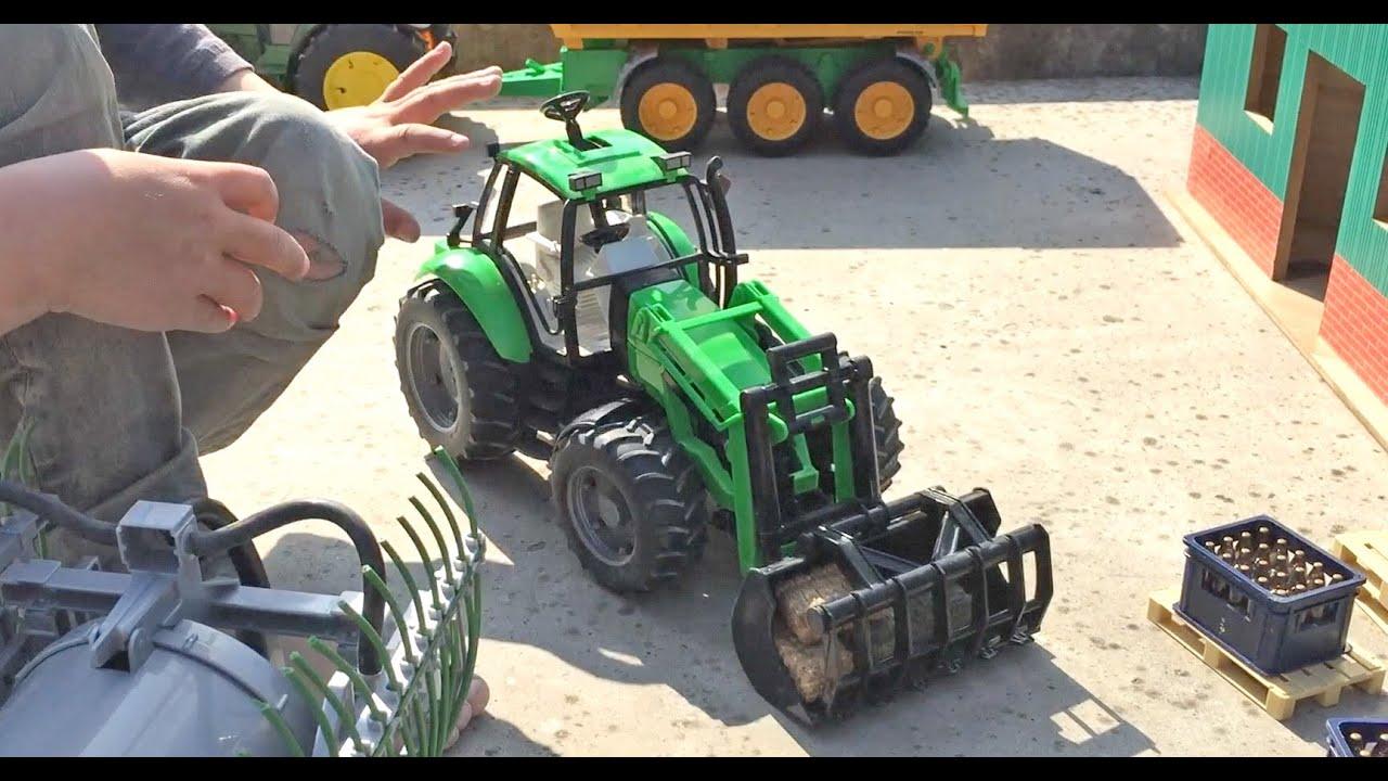 Bruder spielzeug deutz agrotron mit frontlader in jack s