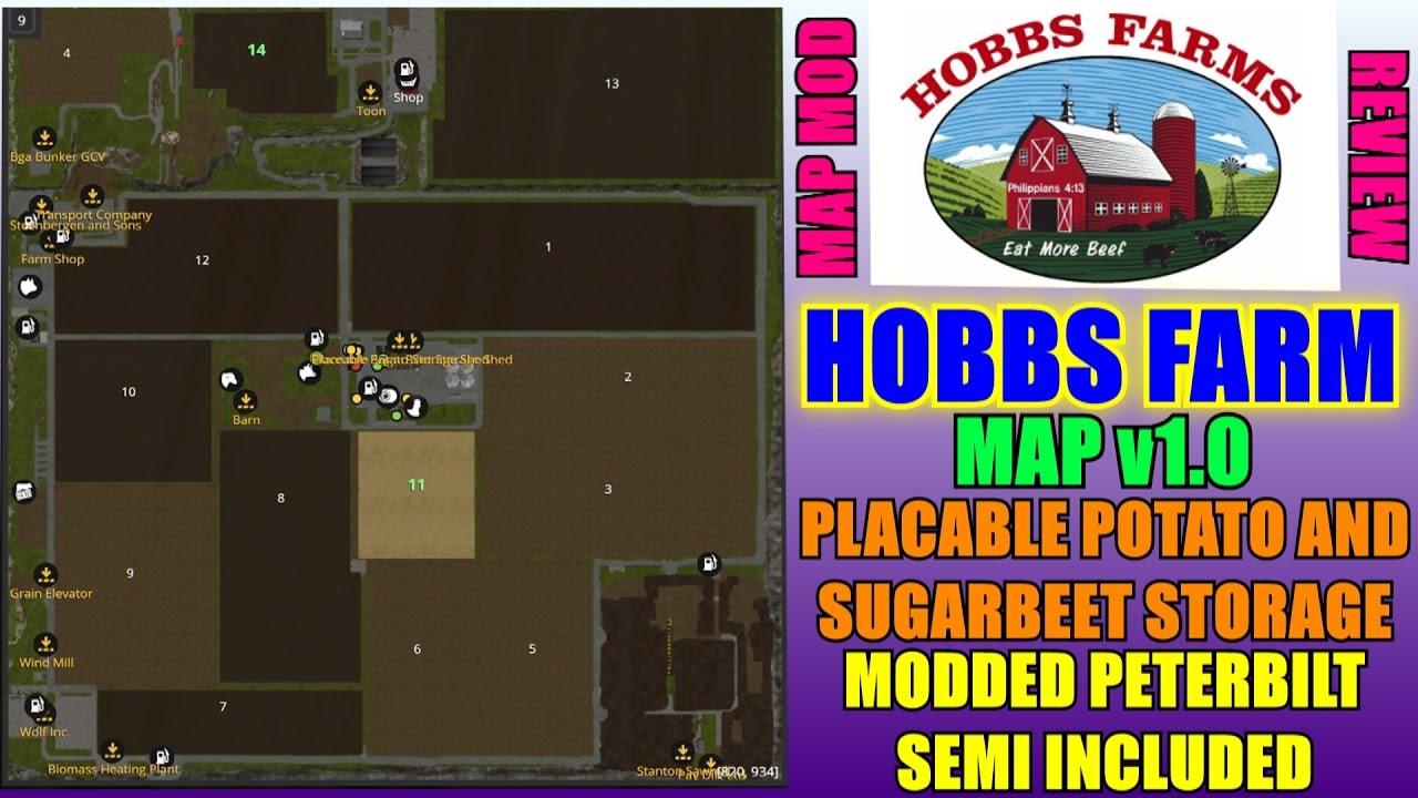 Farming Simulator 2017 Hobbs Farm Map v10 Map Mod Review YouTube