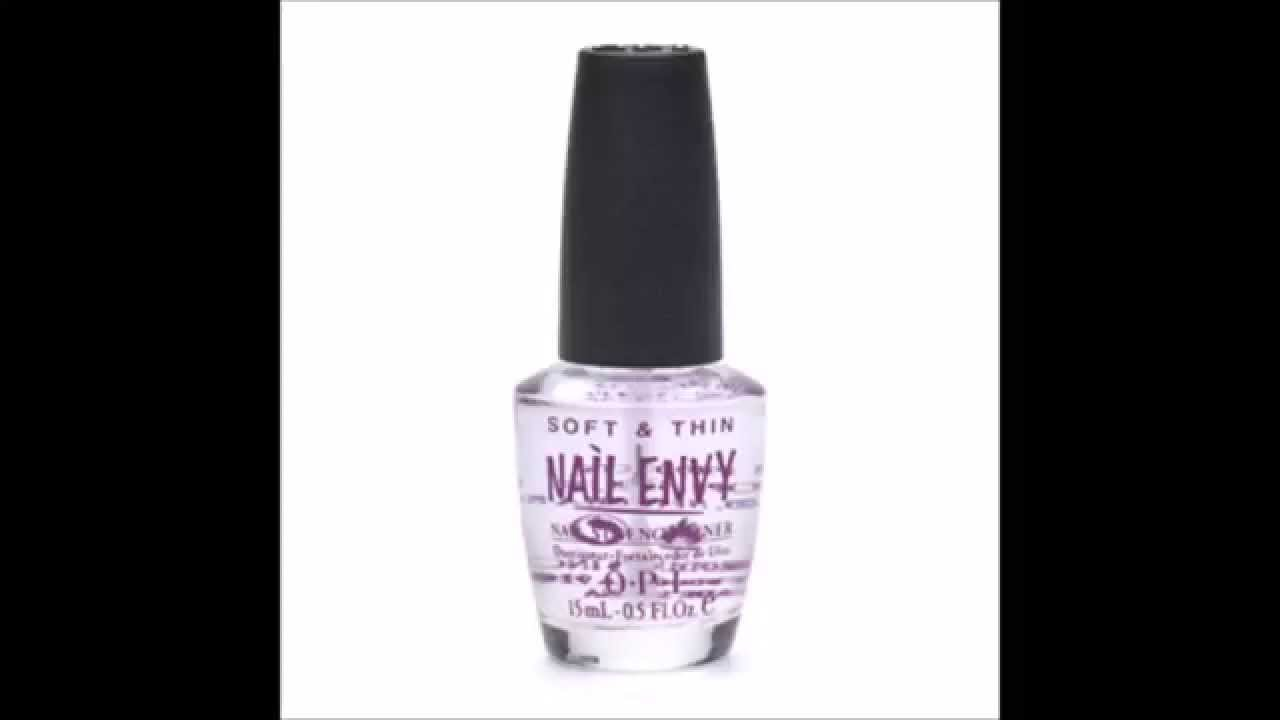 OPI Nail Envy Natural Nail Strengthener, Soft & Thin - YouTube