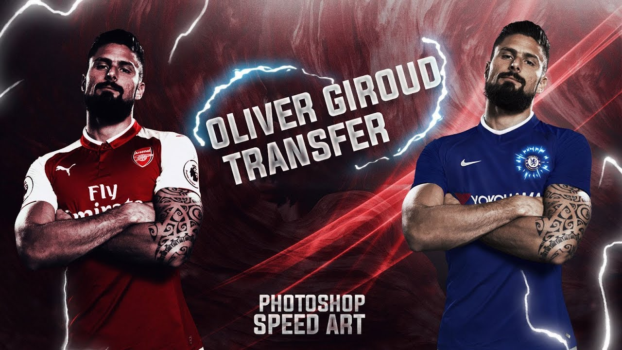 official photos ad61b ba59f Olivier Giroud Move to Chelsea | Photoshop speed art | Swap Jersey In  Photoshop
