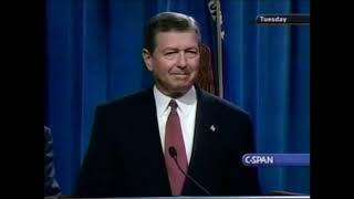 John Ashcroft Addresses The Media Regarding The 9/11 Attacks (10-2-2001)