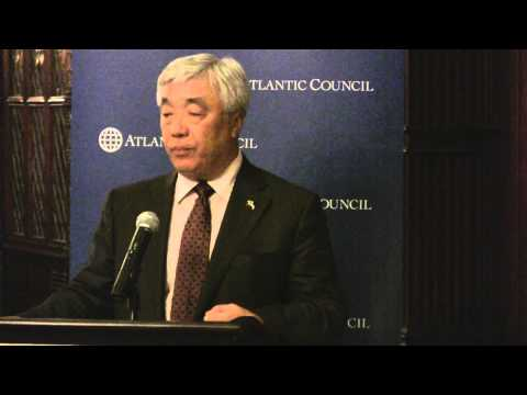 Kazakh Foreign Minister Erlan Idrissov at Atlantic Council Dinner and Reception