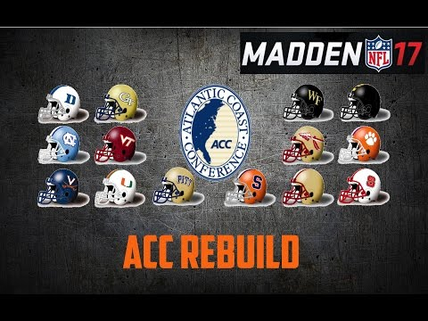 Madden 17 Franchise | ALL ACC TEAM (Atlantic Coast Conference)
