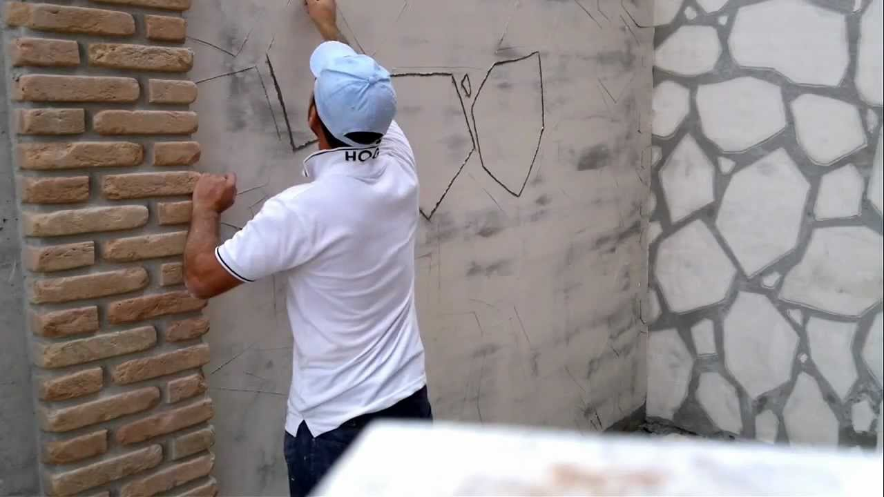 Super come rendere una parete rustica - YouTube IU96