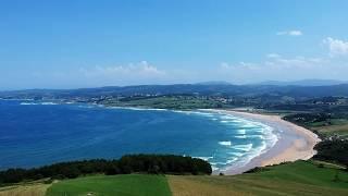 Cantabria desde el aire, Playa de Oyambre y playa de San Vicente de la Barquera