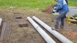 видео ШАГ 1: Столбчатый фундамент из асбесто цементной трубы