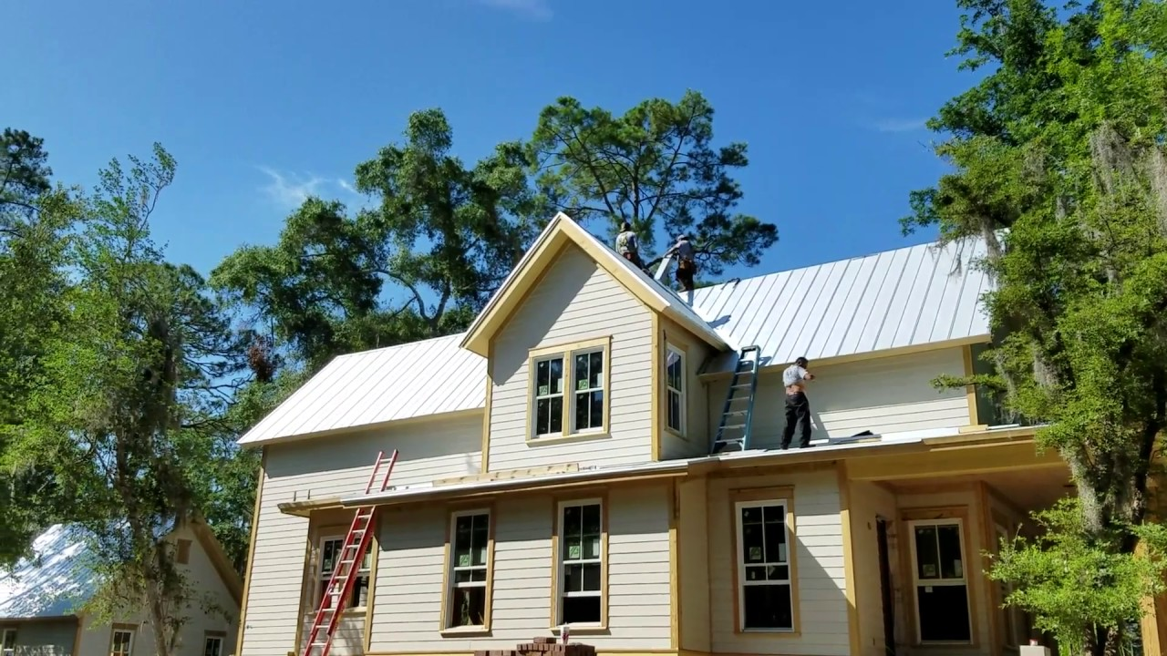 5v Crimp Metal Roof Installation
