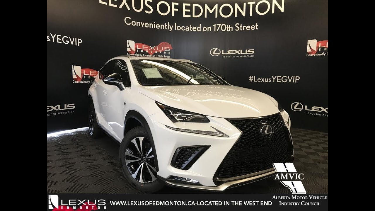 white 2019 lexus nx 300 f sport series 1 review edmonton alberta lexus of edmonton new