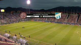 Fútbol en vivo. Lanús - Atl. Tucumán. 32 avos Copa Argentina. FPT.