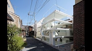 MODERN TRANSPARENT HOUSE WITH AMAZING INTRICATE NETWORK STRUCTURE