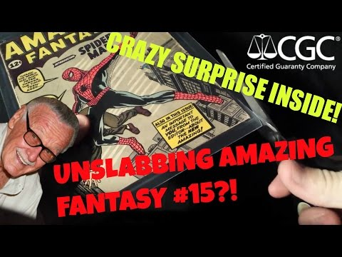 I CRACK OPEN MY CGC'D AMAZING FANTASY #15!! CRAZY SURPRISE INSIDE! MUST WATCH!