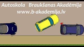 Параллельная парковка на проезжей части - Autoskola