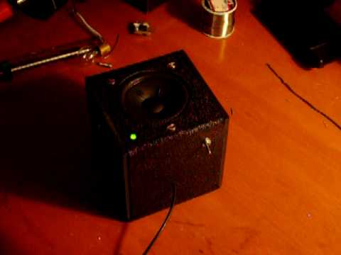 LM386 based portable audio amplifier