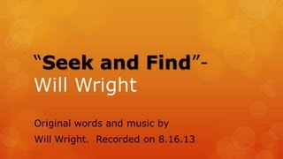 """Seek and Find"" by Will Wright"