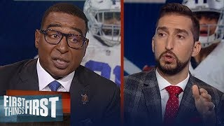 Nick and Cris discuss report on Cowboys' contract negotiations with stars | NFL | FIRST THINGS FIRST