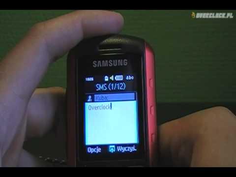 Samsung B2100 Explorer - Menu oraz interfejs użytkownika