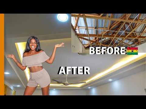 I TRANSFORMED MY GHANA HOUSE FOR HOW MUCH ? | BUILDING IN GHANA | LIFE IN GHANA
