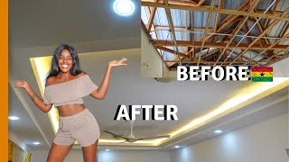 I TRANSFORMED MY GHANA HOUSE FOR HOW MUCH   BUILDING IN GHANA  LIFE IN GHANA