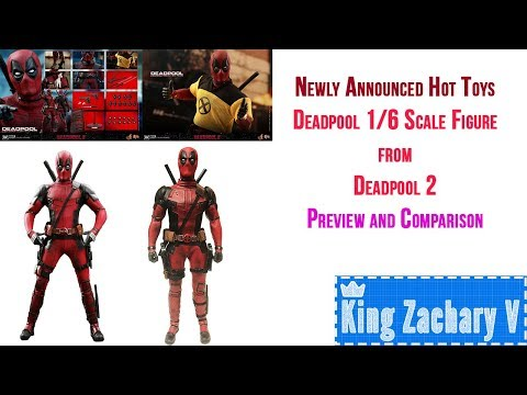 Deadpool 2 Hot Toys Deadpool 1/6 Scale Movie Figure Reveal and Comparison