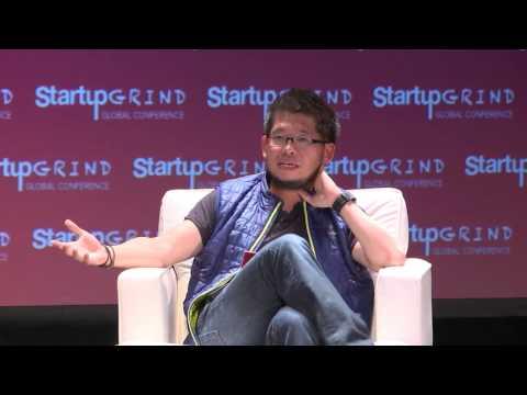 Steven Chen (YouTube; Google Ventures) and Bridgette Beam (GFE) at Startup Grind Global 2016