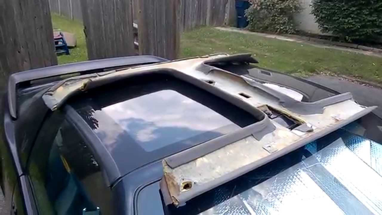 How To Ttop Headliner Repair and Recover  Part 1