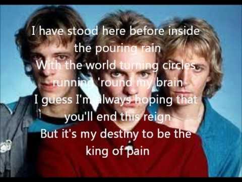 King Of Pain Lyrics