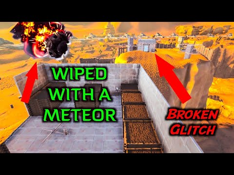 Our BASE got WIPED by a METEOR (WTF)!? The Most Broken GLITCH! ARK Official Servers Ep.3