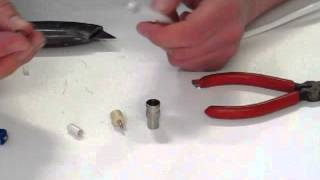 Male Coax / Coaxial Plug Fitting Demonstration