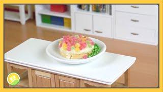 Làm bánh ngọt kẹo dẻo tí hon - Cake and candy
