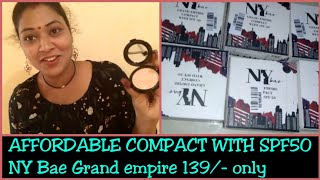 newny bae grand empire compact with spf 50 review
