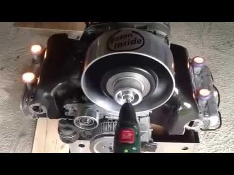 vw type 4 porsche fan / blower adaption simple airflow test