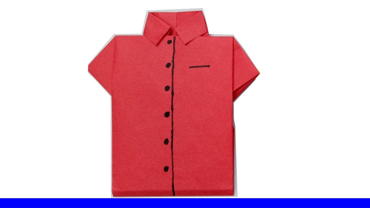 How To Make An Easy Origami Shirt Card For Fathers Dayke Some