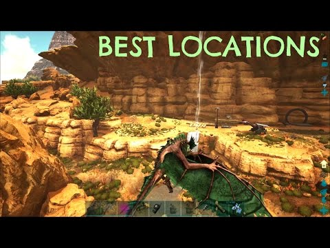 TOP 5 BEST BASE LOCATIONS - Scorched Earth - ARK Survival Evolved