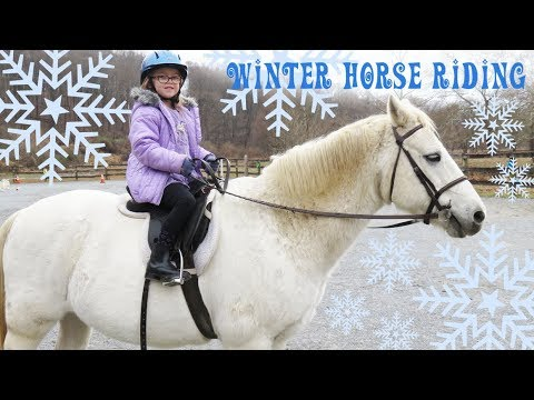 Winter Horse Riding and Fluffy Ponies!