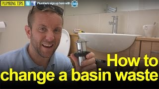 HOW TO CHANGE A BASIN WASTE - Plumbing Tips - Basics