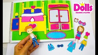 🏠PAPER QUIET BOOK DOLLHOUSE IN ALBUM NEW ROOM FOR PAPER DOLLS HANDMADE TUTORIAL FOR GIRLS