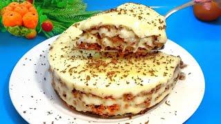 Торт КРЕМ БРЮЛЕ Без Выпечки и Духовки Пошаговый рецепт насыпного торта со вкусом мороженого