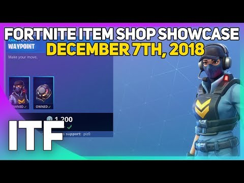 Fortnite Item Shop *NEW* WAYPOINT SKIN AND GLIDER! [December 7th, 2018] (Fortnite Battle Royale)