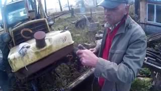 Koparko-Spycharka JUMZ 6 M Rolnicza Białoruś Belarus ODPALANIE PO KILKU LATACH