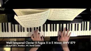 Well-Tempered Clavier II Fugue X in E Minor, BWV 879