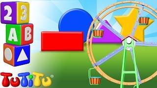 TuTiTu Preescolar | Aprendizaje de las formas en inglés para niños | Formas en la Rueda gigante