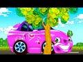 Красная машинка. Мультик для малышей  Ремонт машинки видео для детей. Car video for kids