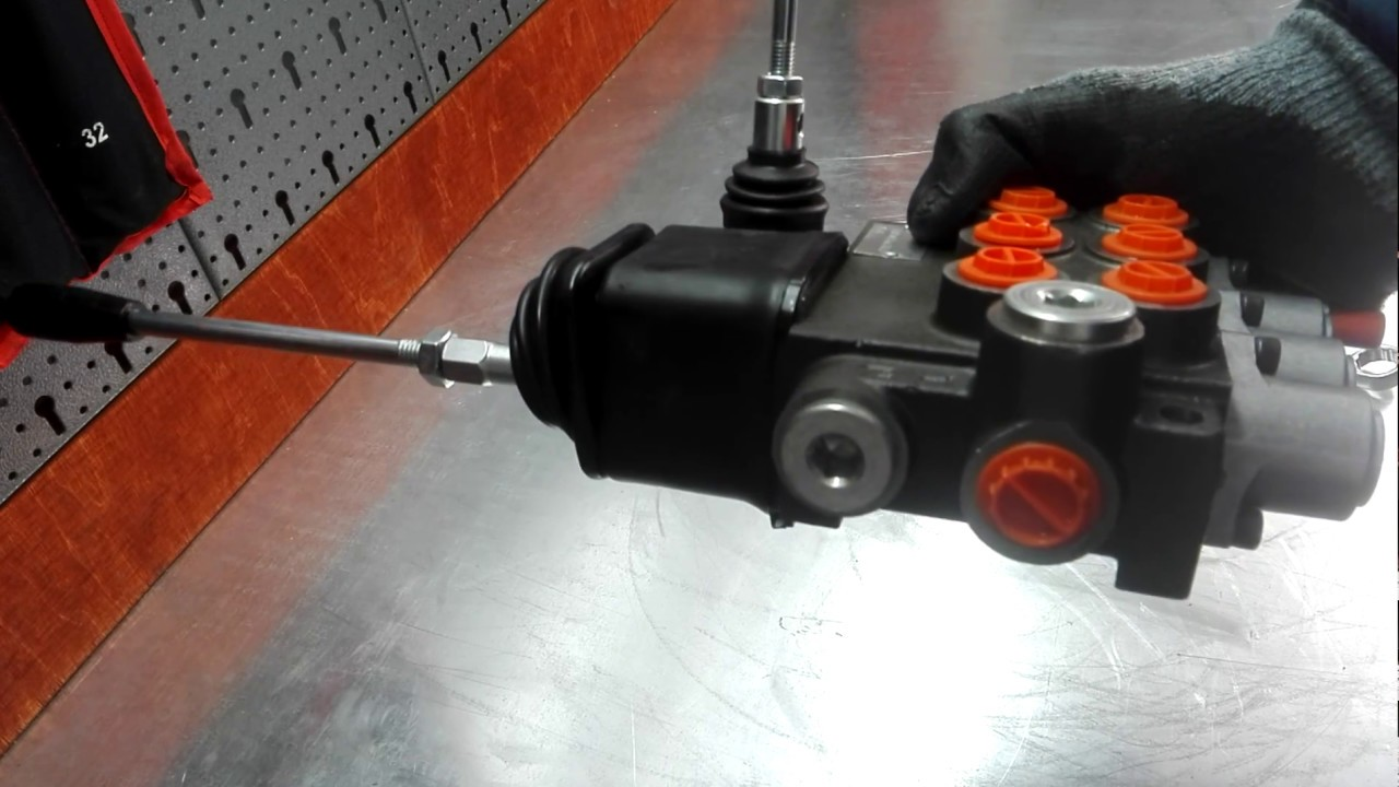 Hydraulic valve 3 section joystick + lever for tractor loader