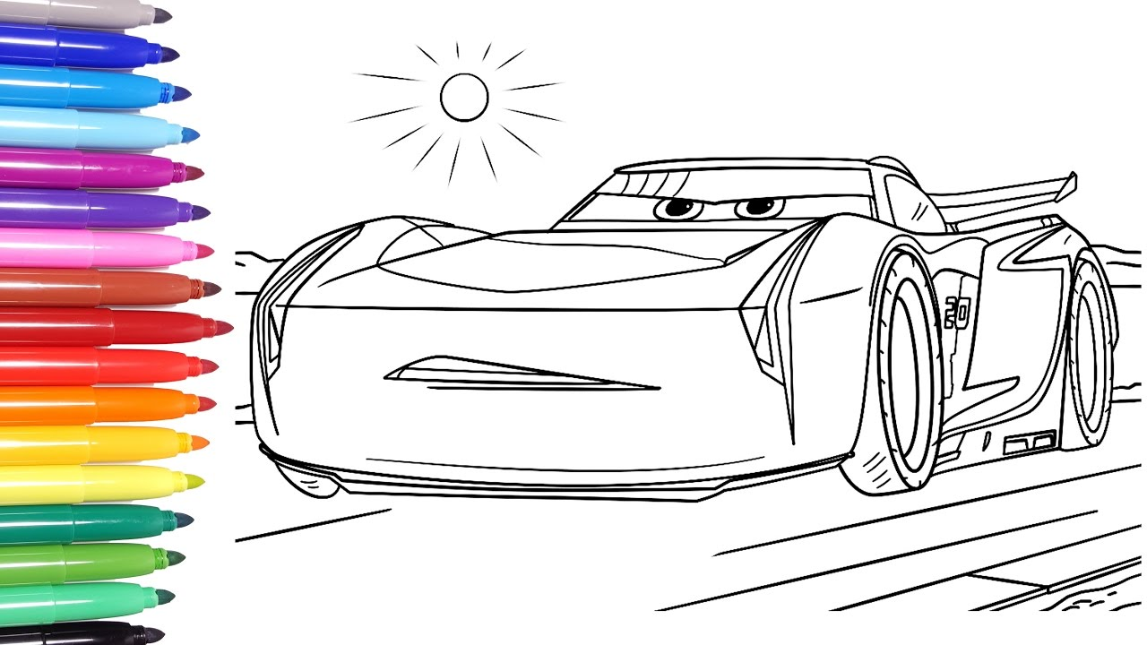 Disney Cars 3 Disney Cars Coloring Pages Learn Colors For Kids 2