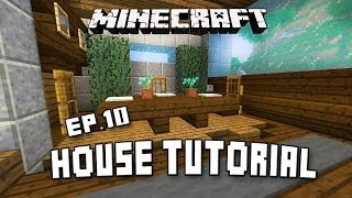 How To Make Dining Room Furniture In Minecraft (Scarland Fishing Cabin Part 10)
