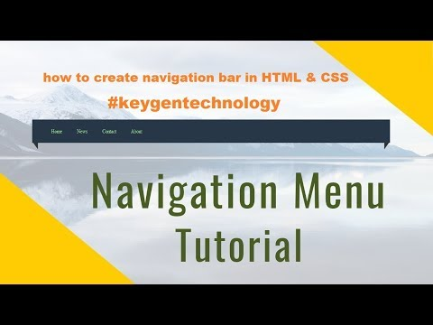 Navigation bar Tutorial  (Hindi/Urdu) | How to create  navigation bar with HTML & CSS Hindi thumbnail